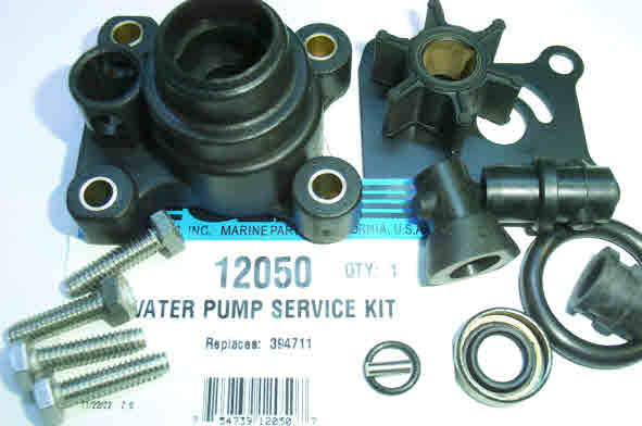 evinrude johnson outboard water pump kit how to video 12050