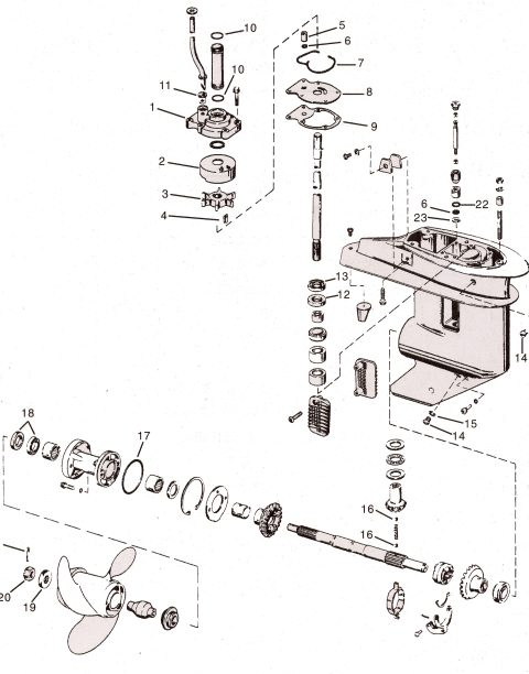 Yamaha 20 perämoottorin räjäytyskuvat