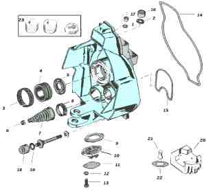 BL Mercruiser Alpha One gimbal housing parts drawing mercruiser outdrive exploded view tech drawings mercathode wiring diagram at mifinder.co