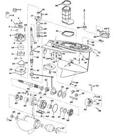 evinrude johnson outboard parts drawings rh sterndrive info 30 HP Wisconsin Engine V4 Applications 4 Cylinder Engine Diagram