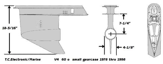 v4 90 1978 1998 small gearcase drawing
