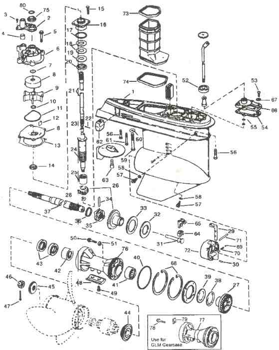 outboard motor powerhead diagram  outboard  free engine