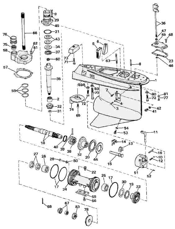 volvo penta sx outdrive parts diagrams with part numbers