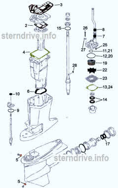 130 / L130 Yamaha seal kit and water pump parts