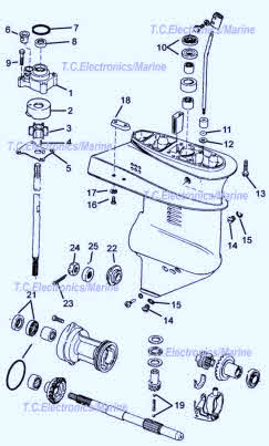 johnson evinrude outboard 9 9-15 hp drawing