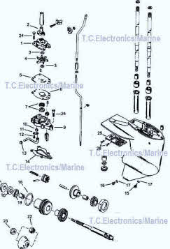 mercury parts drawing 6, 8, 9 9, 10 and 15 hp