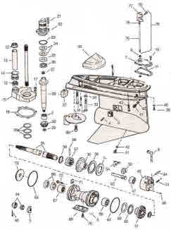 OMC Cobra parts drawing lower gearcase