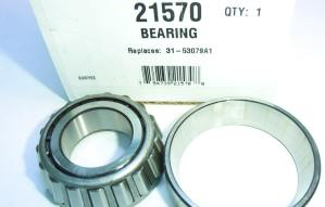 21570 Lower gearcase drive shaft taper bearing
