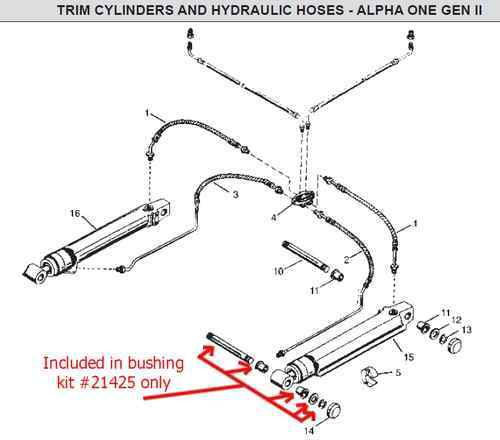 mercruiser hydraulic trim diagram