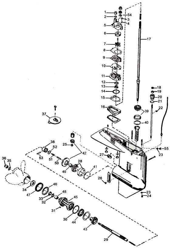 Mercury Outboard Lower Unit Schematic Mercury Free