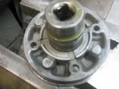 Push bearing all the way thru to remove parts