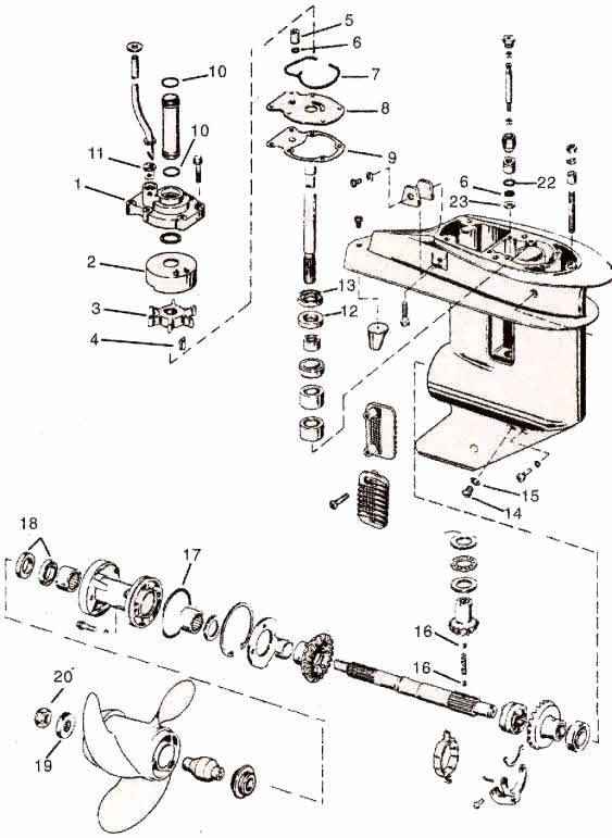 evinrude  johnson parts 25