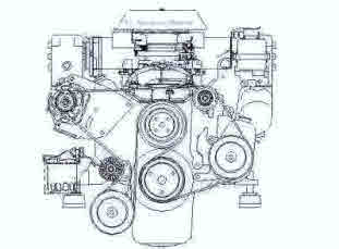 v8 boat engine
