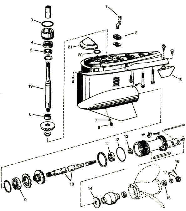 Volvo Penta / OMC Cobra SX OMC parts drawing