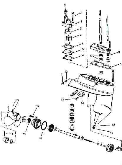 1964 Evinrude Water Pump Diagram