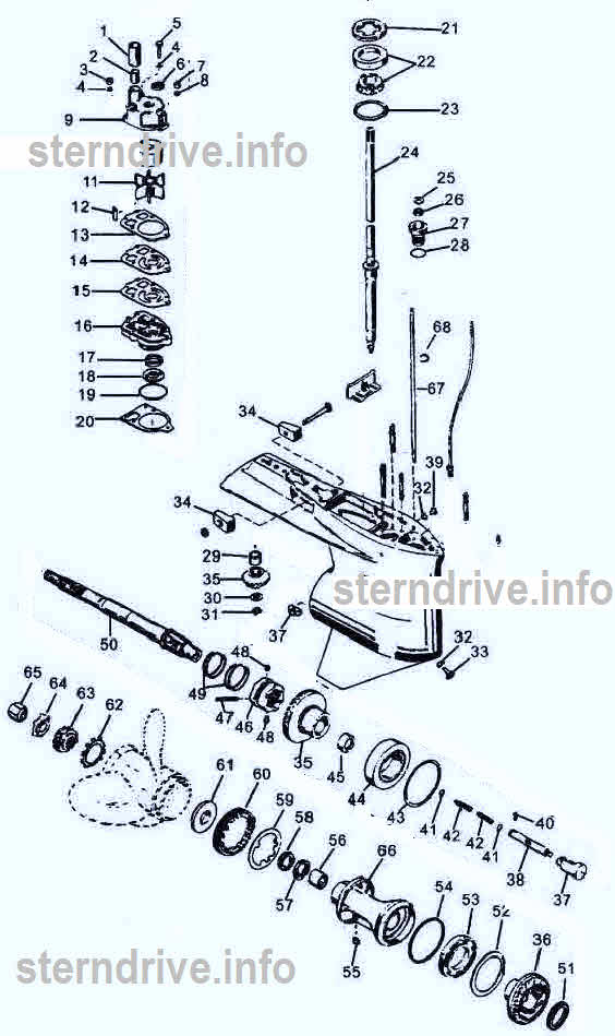Mercury Outboard Parts Drawing 65225 Hp Pn 1 To 25rhsterndriveinfo: Mercury Outboard Lower Unit Schematic At Gmaili.net