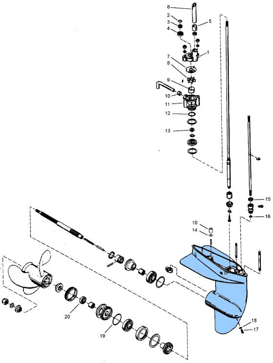 mercury outboard parts drawing 3 9 4 4 5 6 7 5 9 8 hp