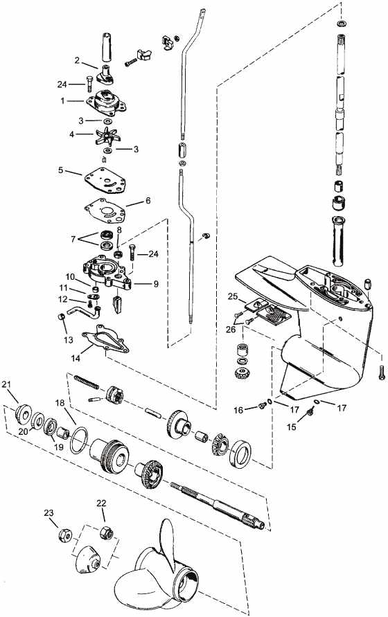 mercury outboard parts drawing 6  8  9 9  10  u0026 15 hp