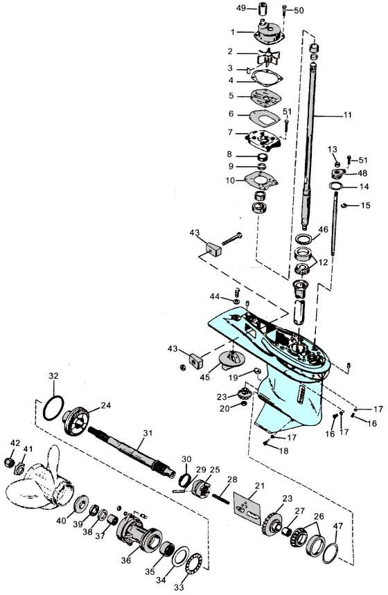 40 Hp Mercury Outboard Lower Unit Parts Diagram on johnson 115 hp wiring diagram