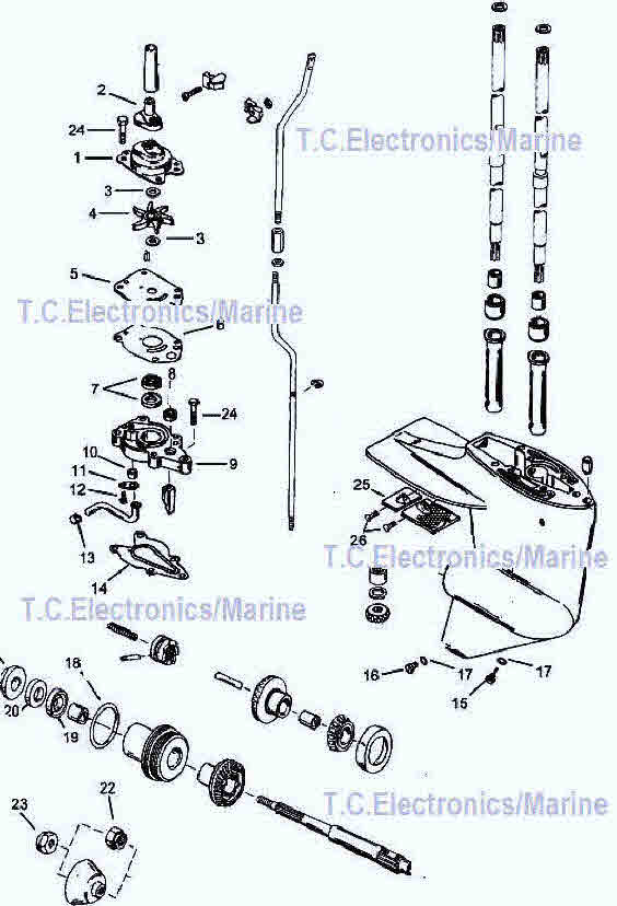 Mercury Outboard Parts Drawing 6 8 99 10 15 Hprhsterndriveinfo: Mercury Outboard Lower Unit Schematic At Gmaili.net