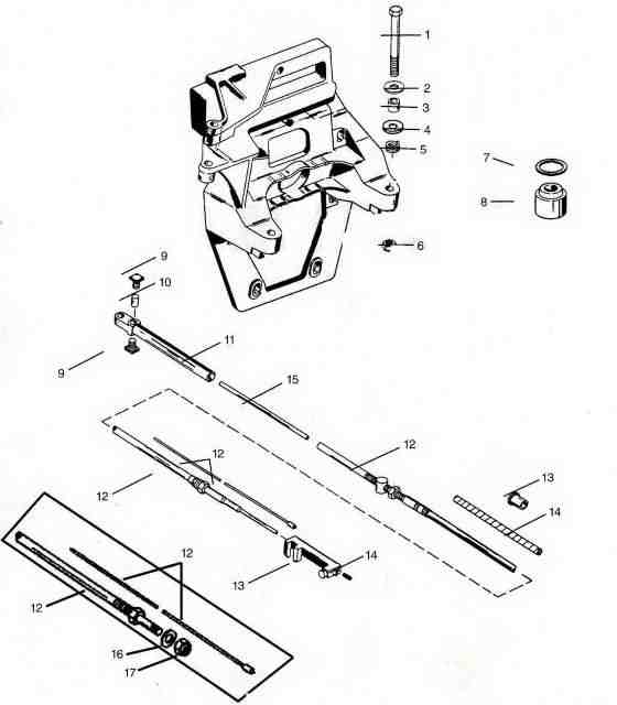 mercruiser alpha 1 parts drawing  transom