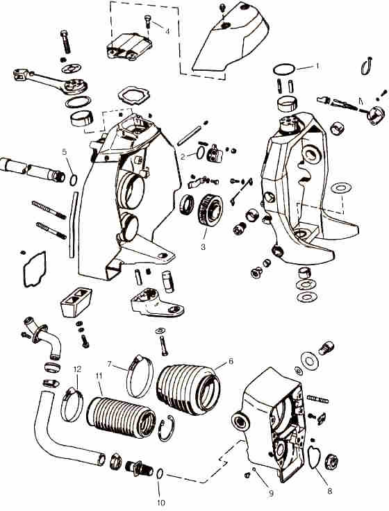 volvo omc cobra sx omc parts drawing (transom) Regal Wiring Diagram OMC Shifter Diagram omc stern drive wiring diagram