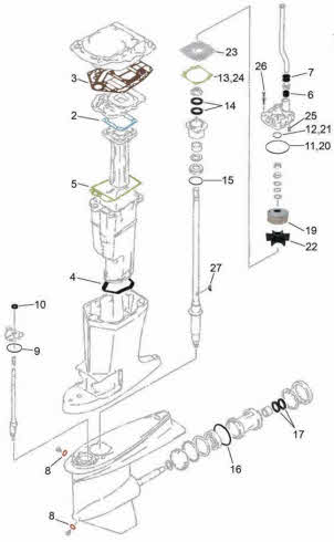 quicksilver wiring harness with 115 Mercury Outboard Wiring Diagram on Vintage Mercury Outboard Parts as well 2094 besides Genuine Yamaha Outboard Parts Uk further Bayliner Throttle Control Parts likewise Quicksilver 3000 Wiring Diagram.